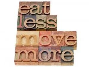 comer menos moverse más