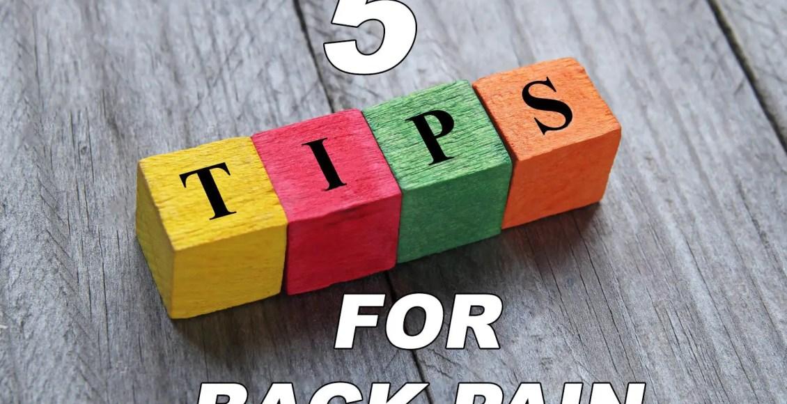 consejos quiroprácticos para el dolor de espalda