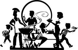 gmos family eating