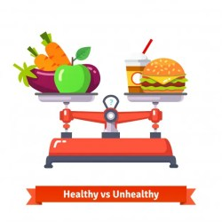 dietary healthy unhealthy food