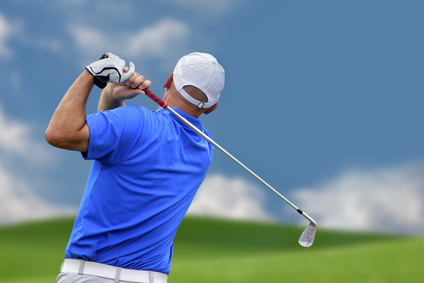 golfers golfer finishing swing