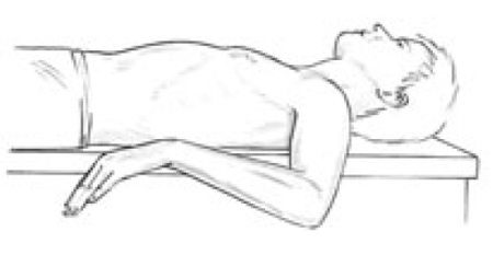 Figure 4 37 Assessment and Self-Treatment Position for Infraspinatus