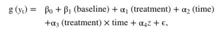 Regression Model General Form