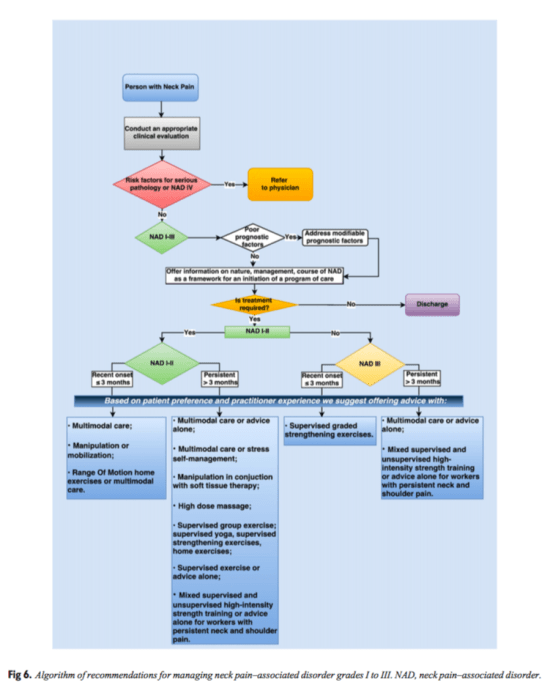 Figure 6 Algorithm of Recommendations for Managing NAD