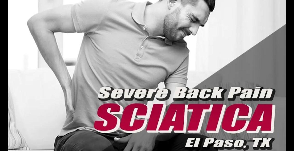 tratamiento de ciática rehabilitación lesión médica quiropráctica clínica el paso, tx.