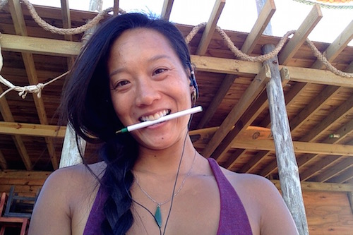 Holding a pen horizontally in your teeth is enough to improve your mood.