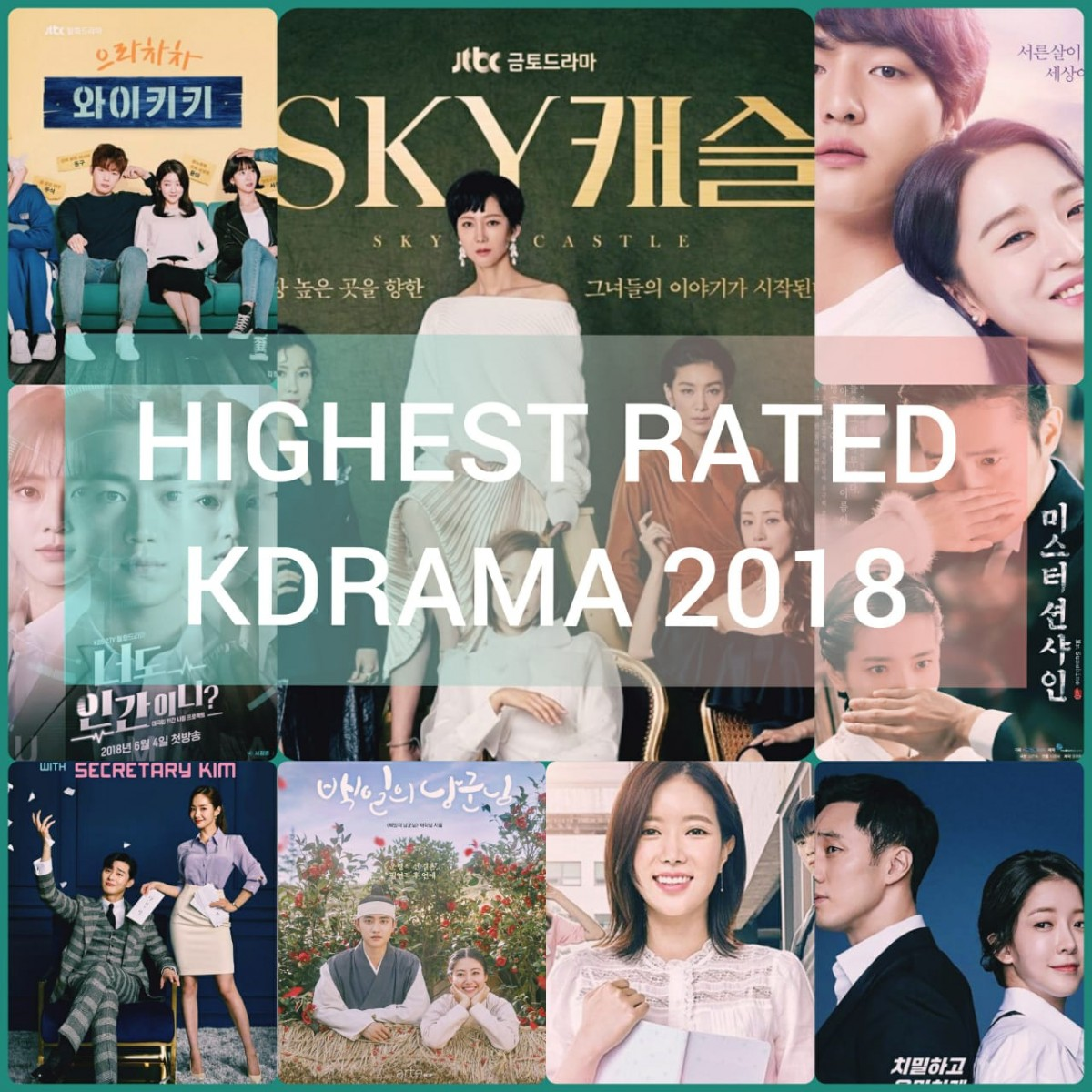20 Highest Rated Korean Dramas of 2018