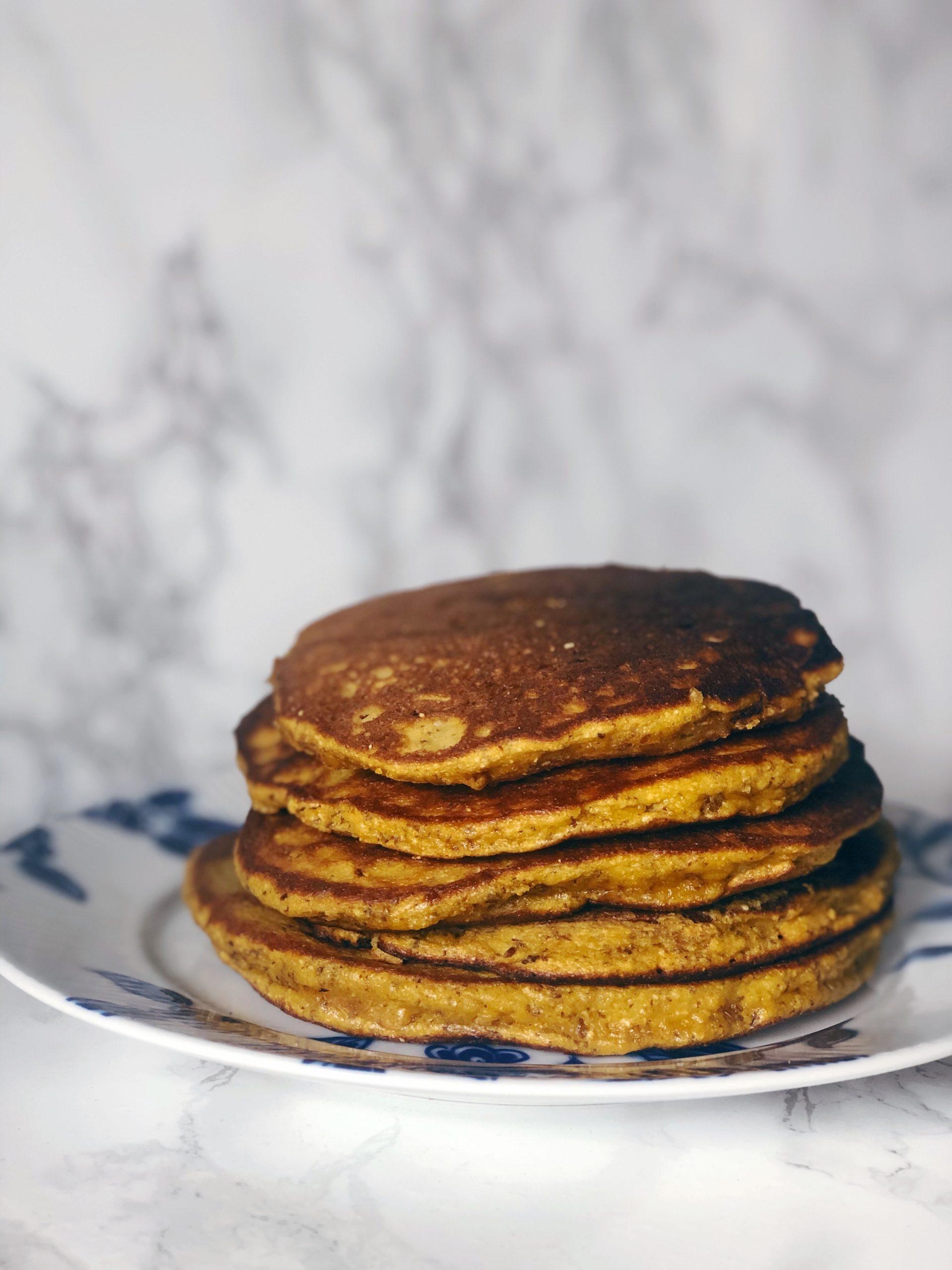 Pumpkin Flaxseed Pancakes