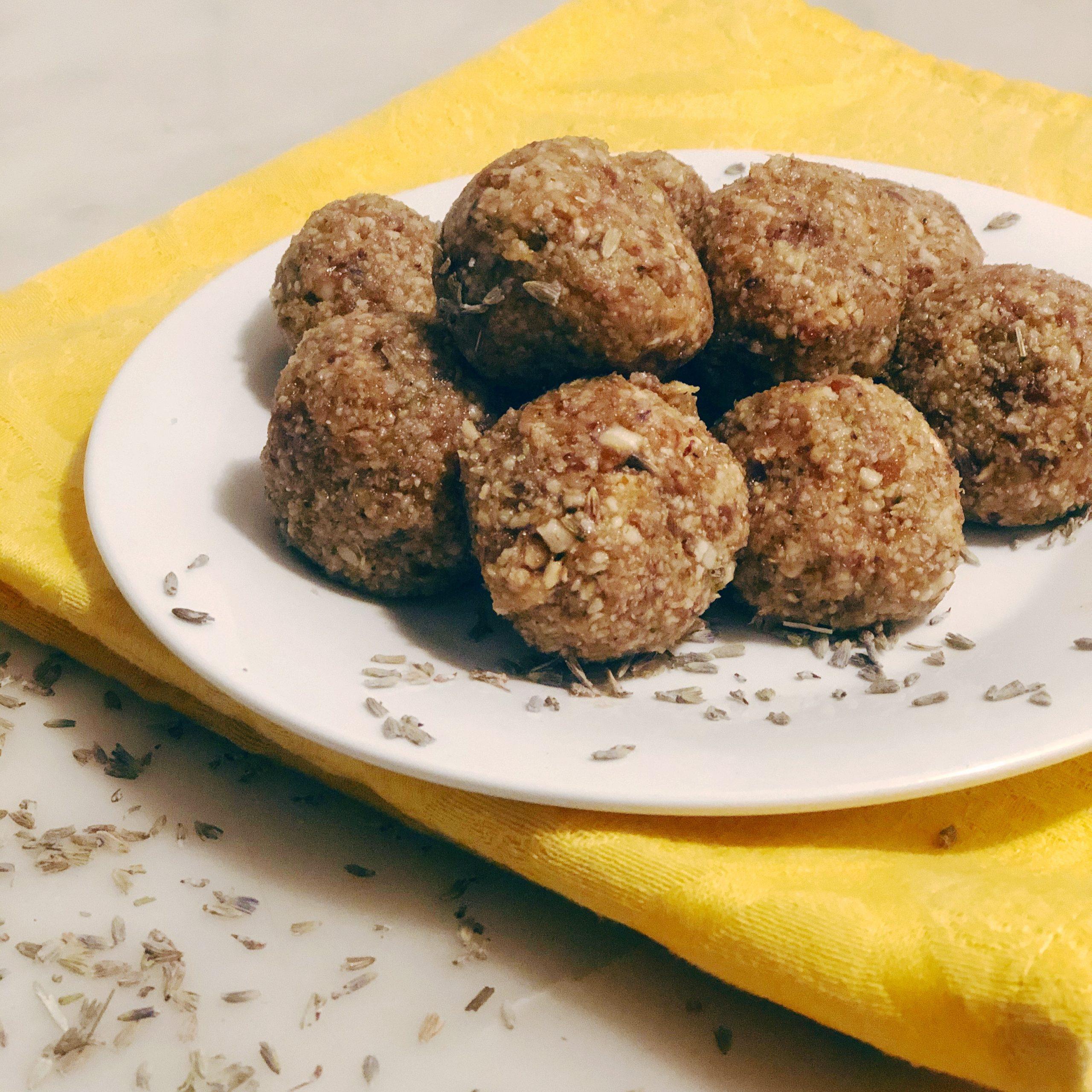 Lemon Lavender Collagen Energy Balls