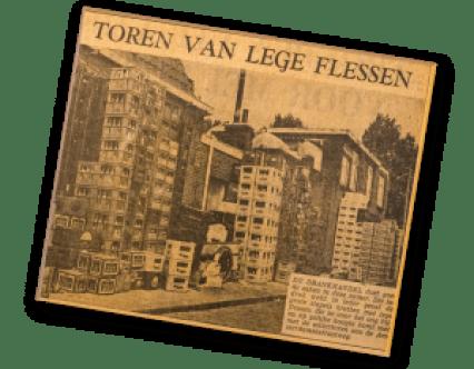 nectar-utrecht-geschiedenis-krant-torenvanlegeflesjes