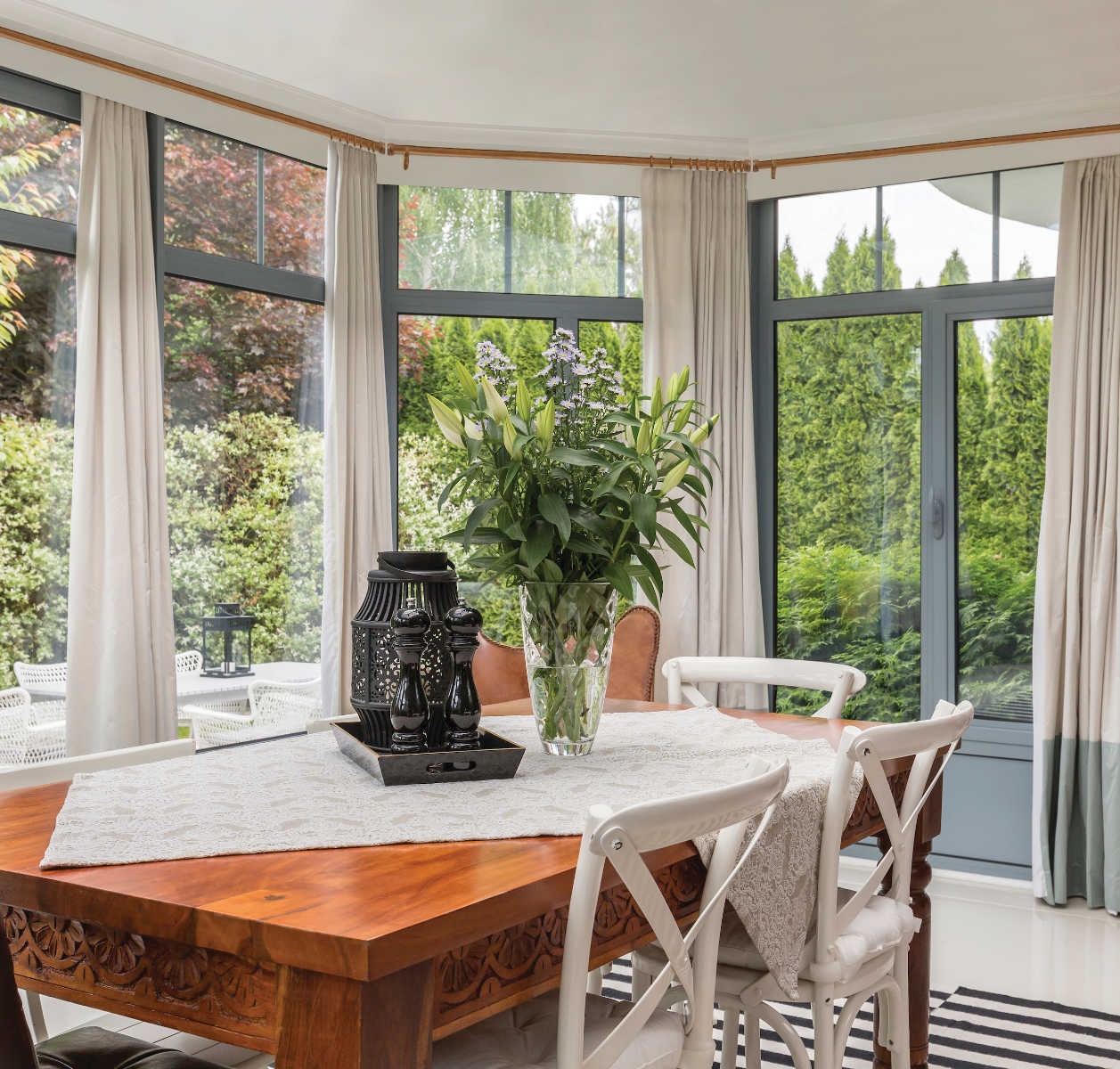 Bay Window Curtain Rods Drapery Rods Direct