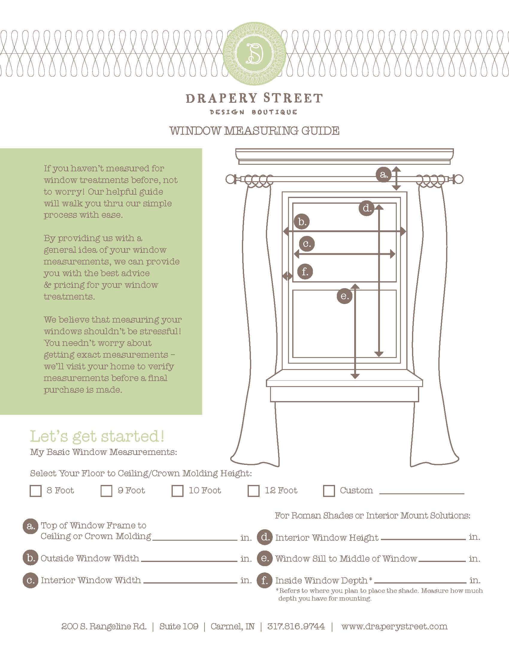 How To Measure Windows For D S And Window Treatments