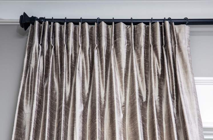Gray Silk Draperies Curtains