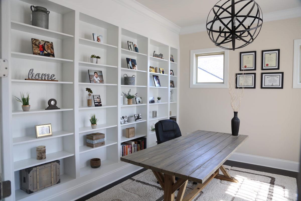 Diy Built In Shelves Using Ikea Billy Bookcase Hack