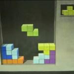 Tetris 3D Chalk Art