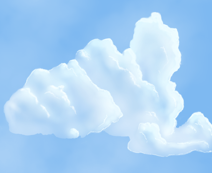 Line Art Clouds : How to draw realistic clouds central