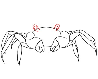 How To Draw A Crab Step 6