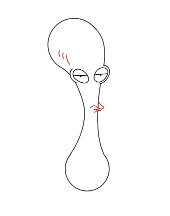 How To Draw Roger American Dad Step 5
