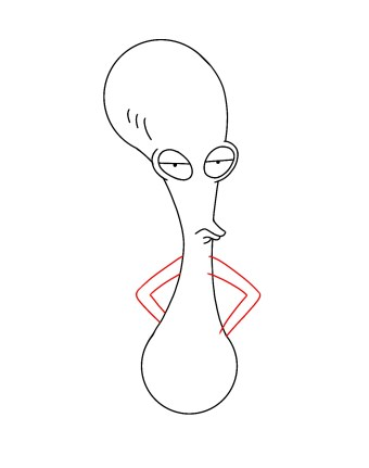How To Draw Roger American Dad Step 6