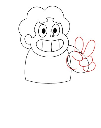 How To Draw Steven Universe Step 6