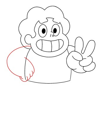 How To Draw Steven Universe Step 7
