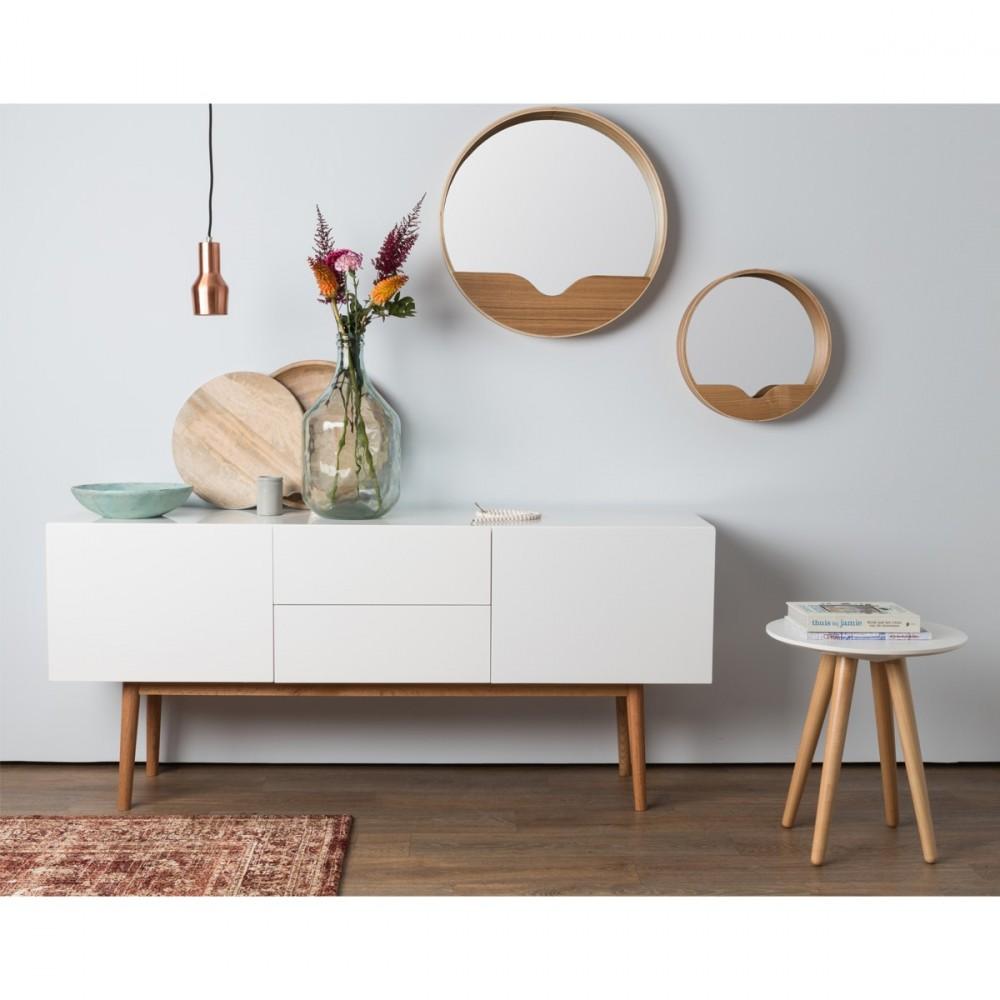 high wood buffet design 2 portes 2 tiroirs scandinave