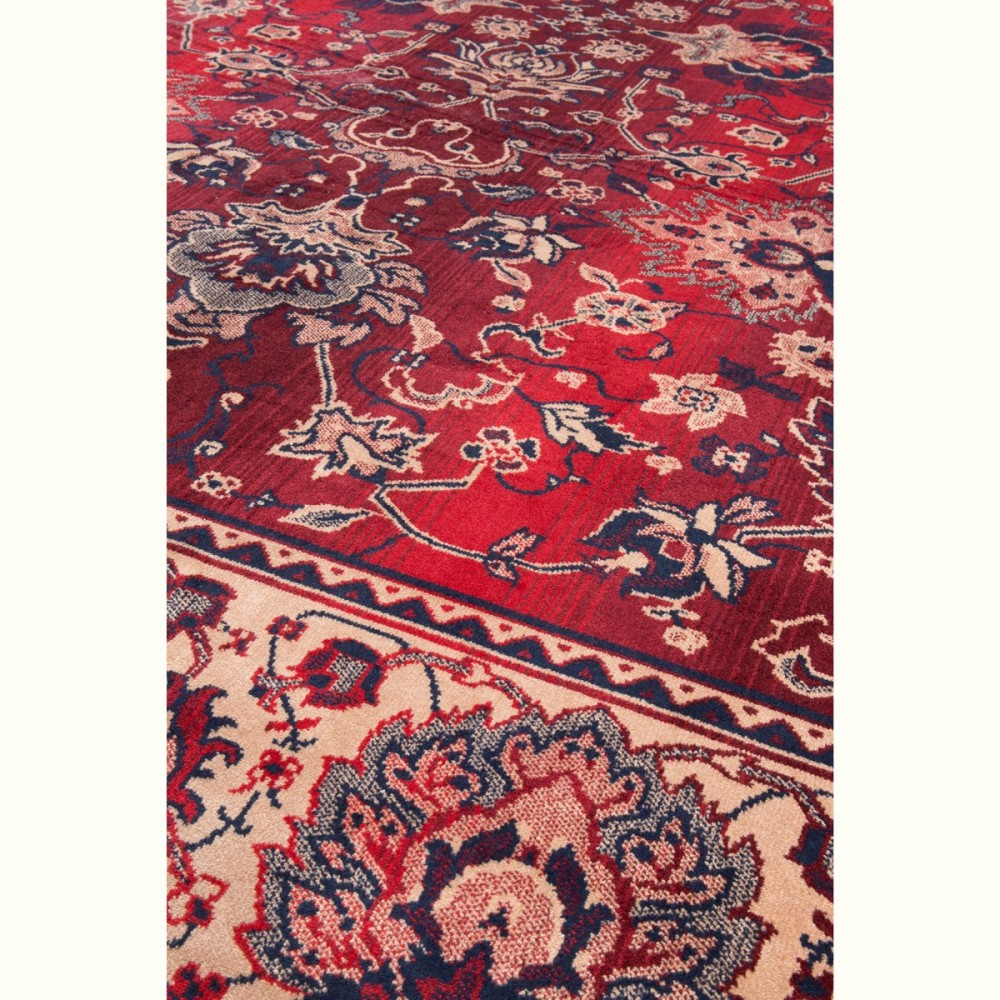 tapis de salon persan rouge dutchbone old bid