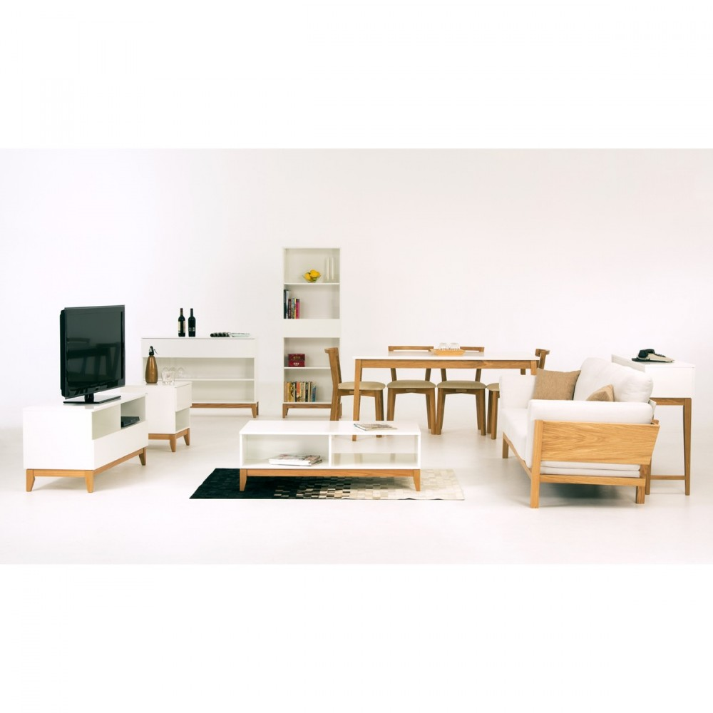 meuble tv design scandinave wide woodman blanco