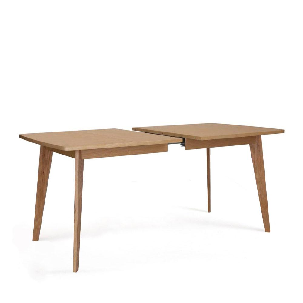 table a manger extensible 160 200 cm bois woodman kensal