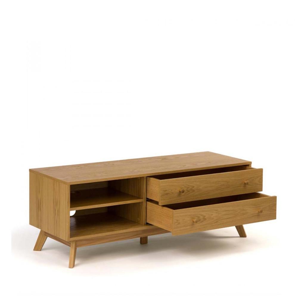 meuble tv design bois massif woodman kensal