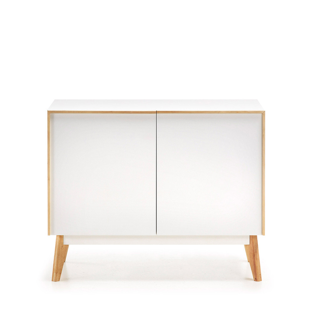 buffet bois laque blanc 2 portes kave home hector