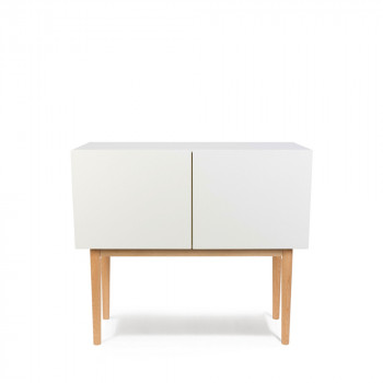high wood buffet design 2 portes scandinave