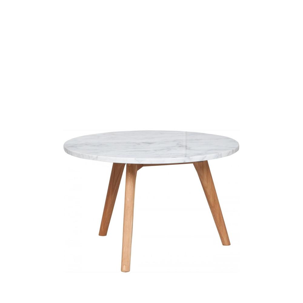 Table Basse En Marbre Blanc Style Scandinave Zuiver