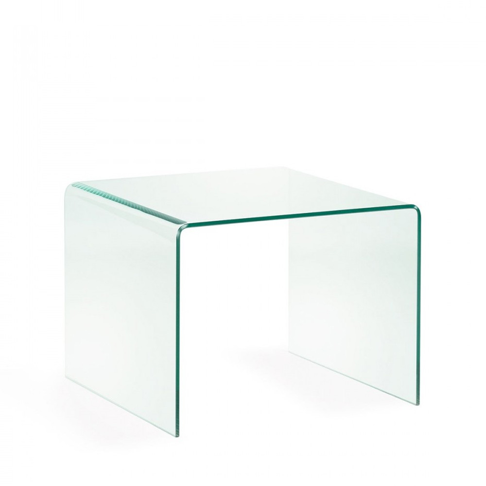 table d appoint verre transparent burano