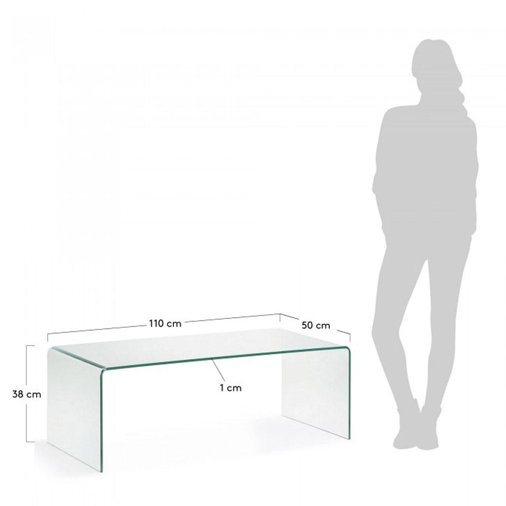 table basse en verre trempe transparent burano