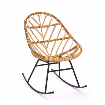 ette rocking chair en rotin