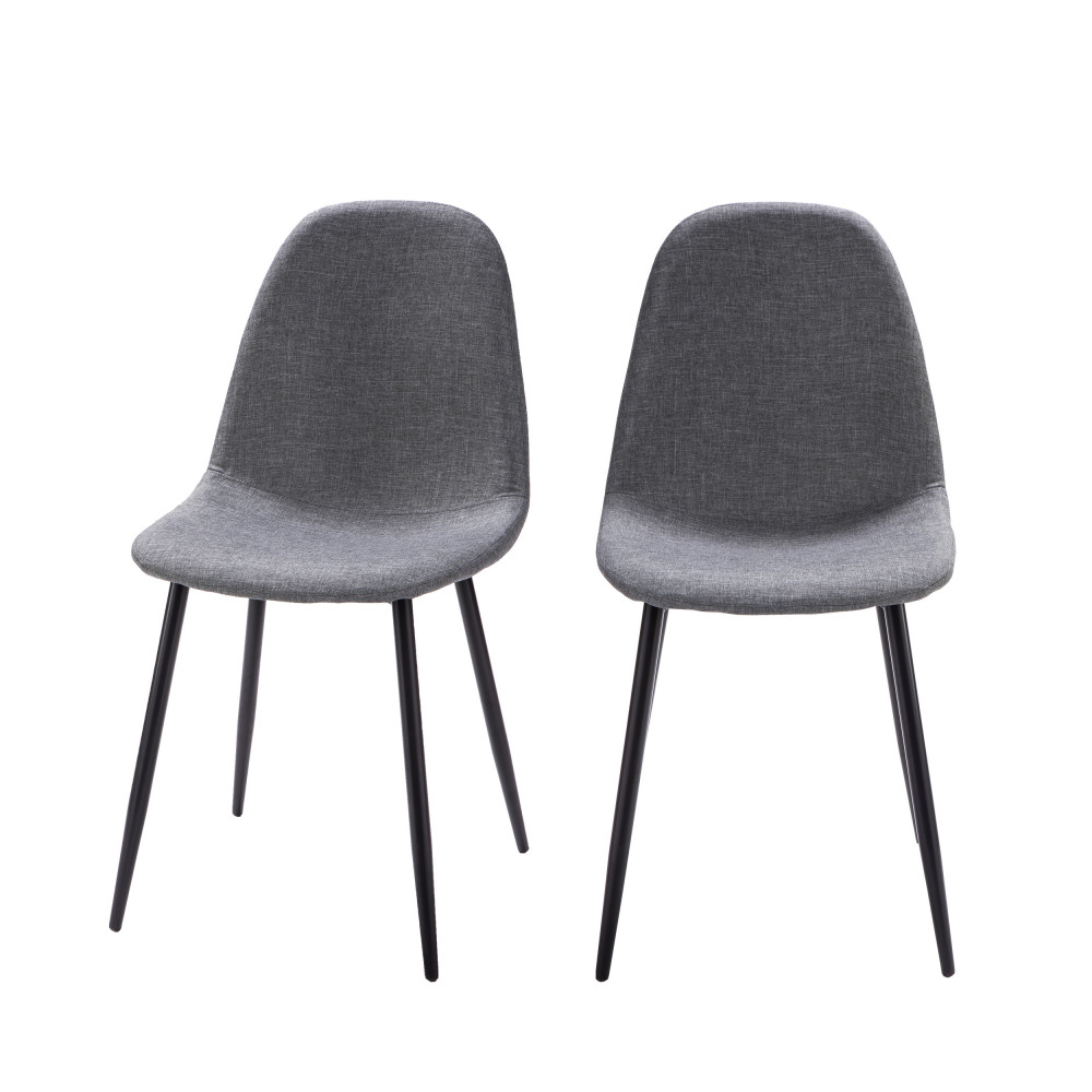 2 chaises en tissu et pieds noirs drawer vitikko