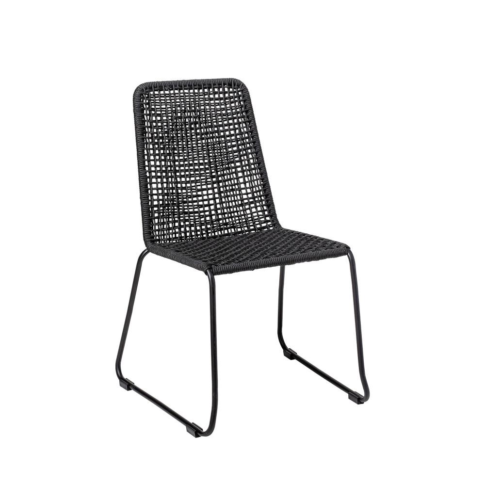 chaise de jardin en metal et resine bloomingville mundo