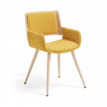 grijota fauteuil de table capitonne en tissu