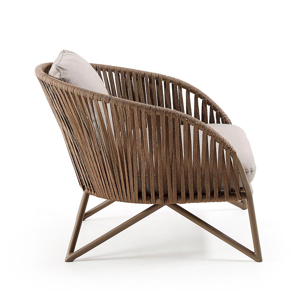 fauteuil de jardin en metal et corde bacoco