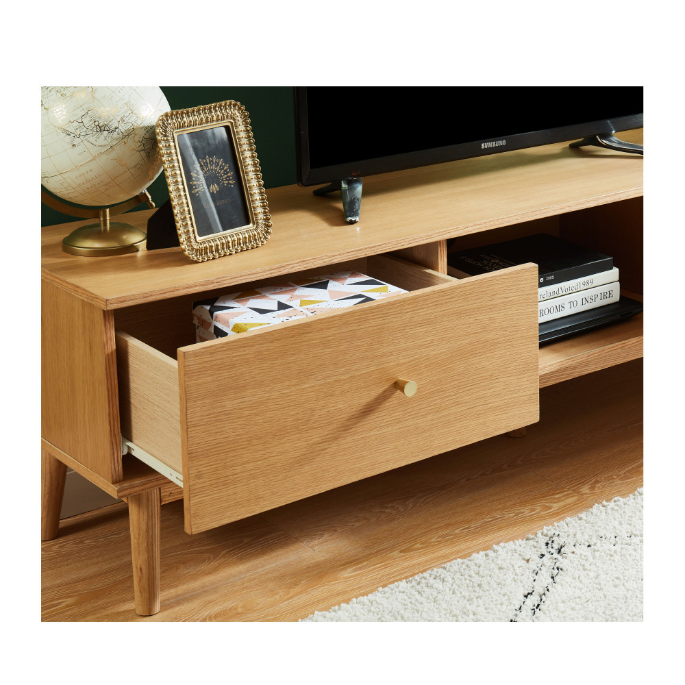 meuble tv vintage en bois grude