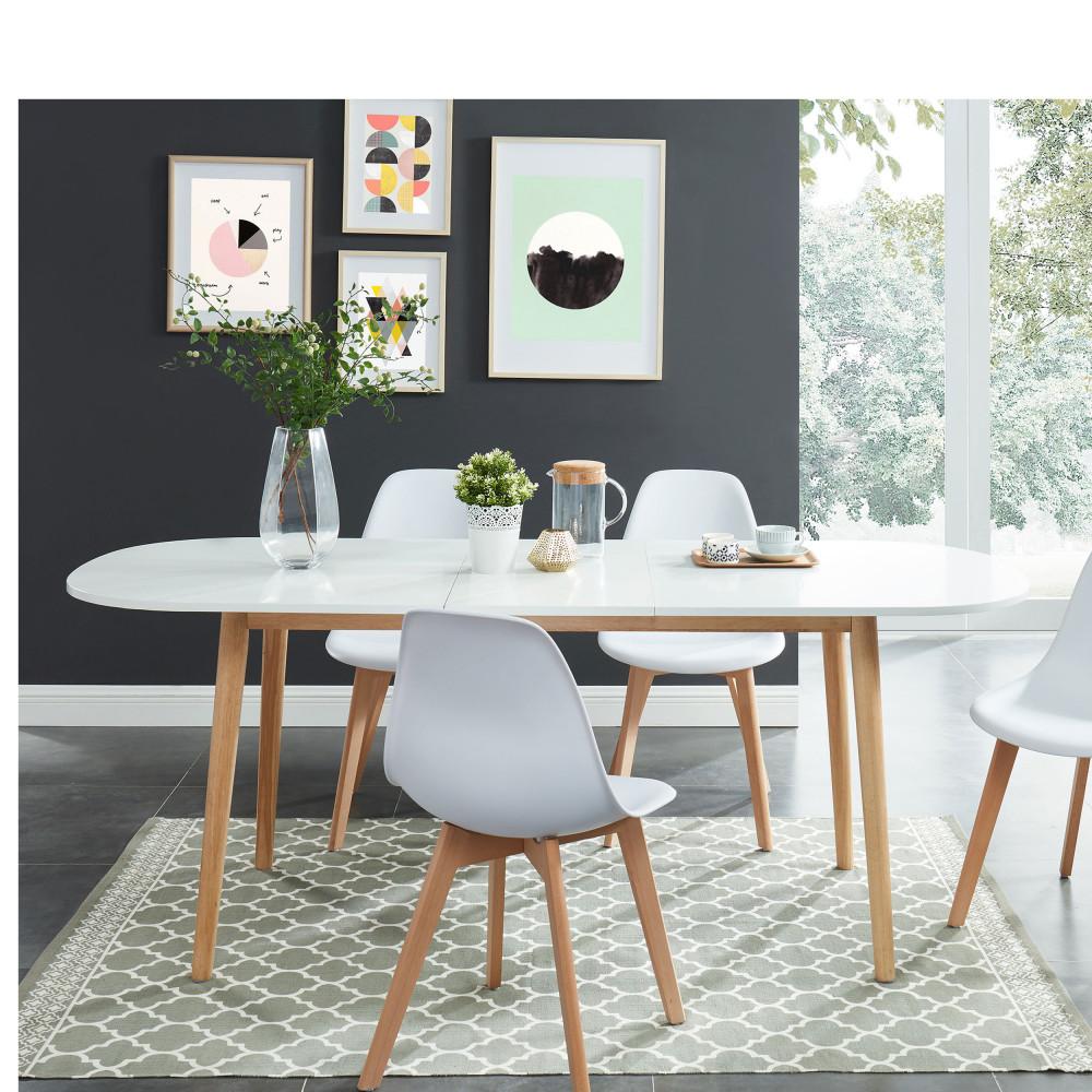 table a manger scandinave extensible 160 200 x 80 cm gurra