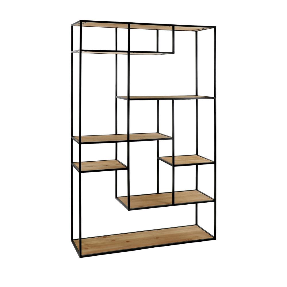 etagere en bois et metal 165x100cm pomax eszential