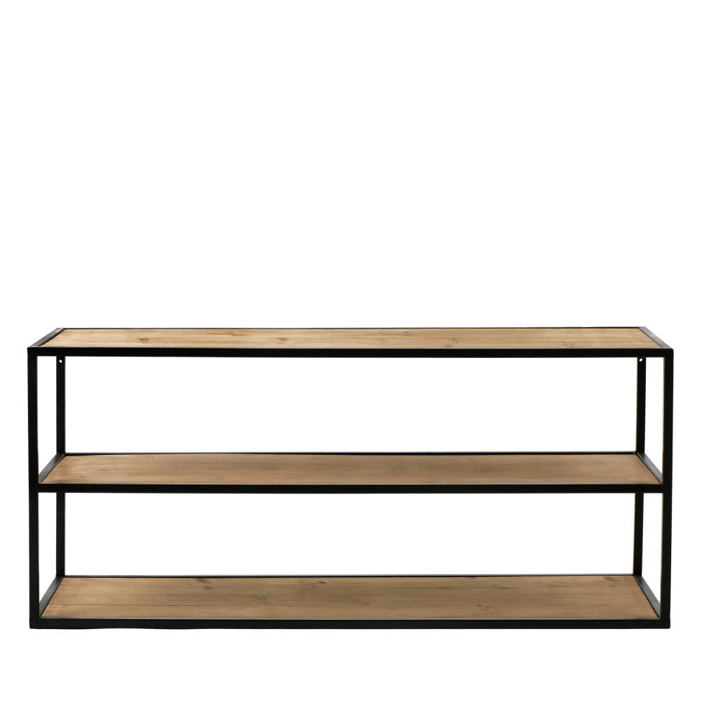 eszential meuble a chaussures en metal et bois 90x30cm