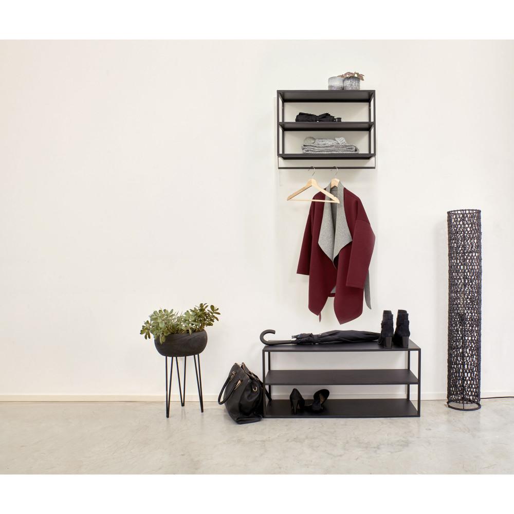 meuble a chaussures en metal 90x30cm pomax eszential