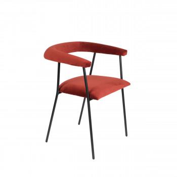 haily fauteuil de table en velours