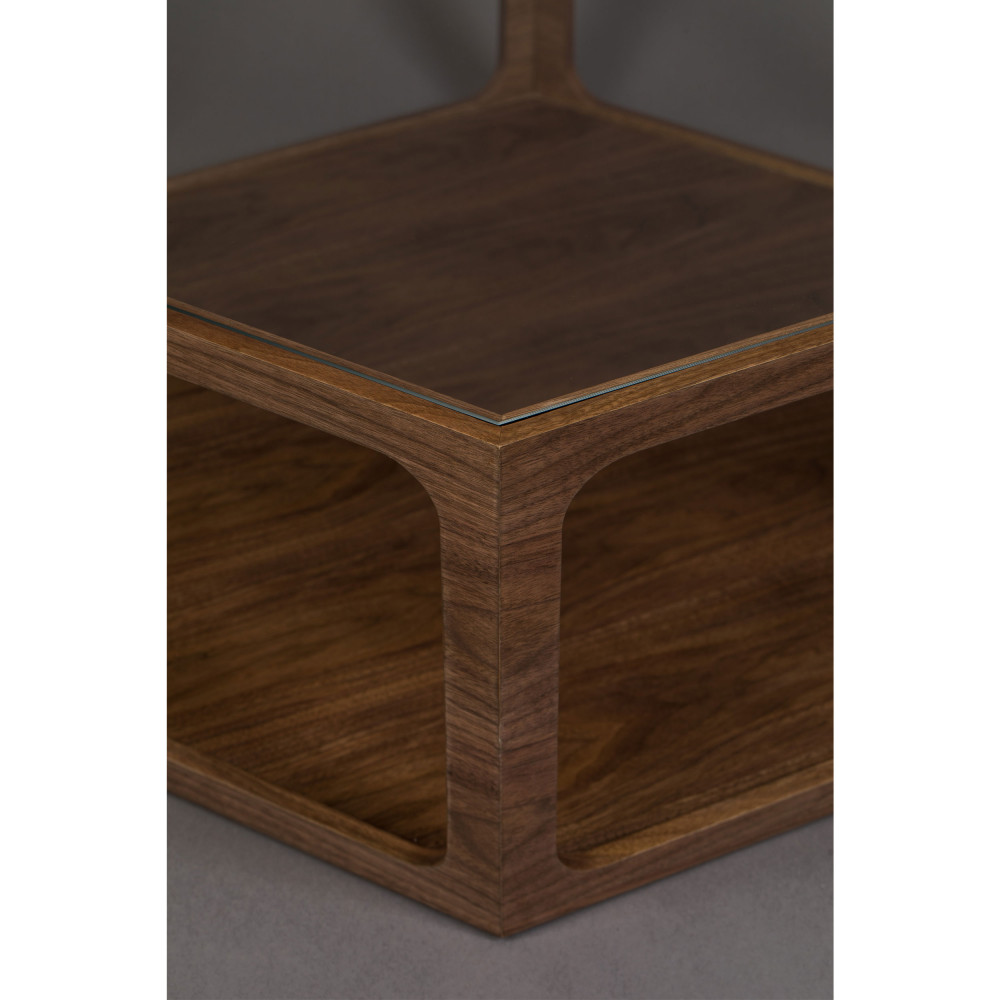 table basse hexagonale en bois et verre dutchbone sita