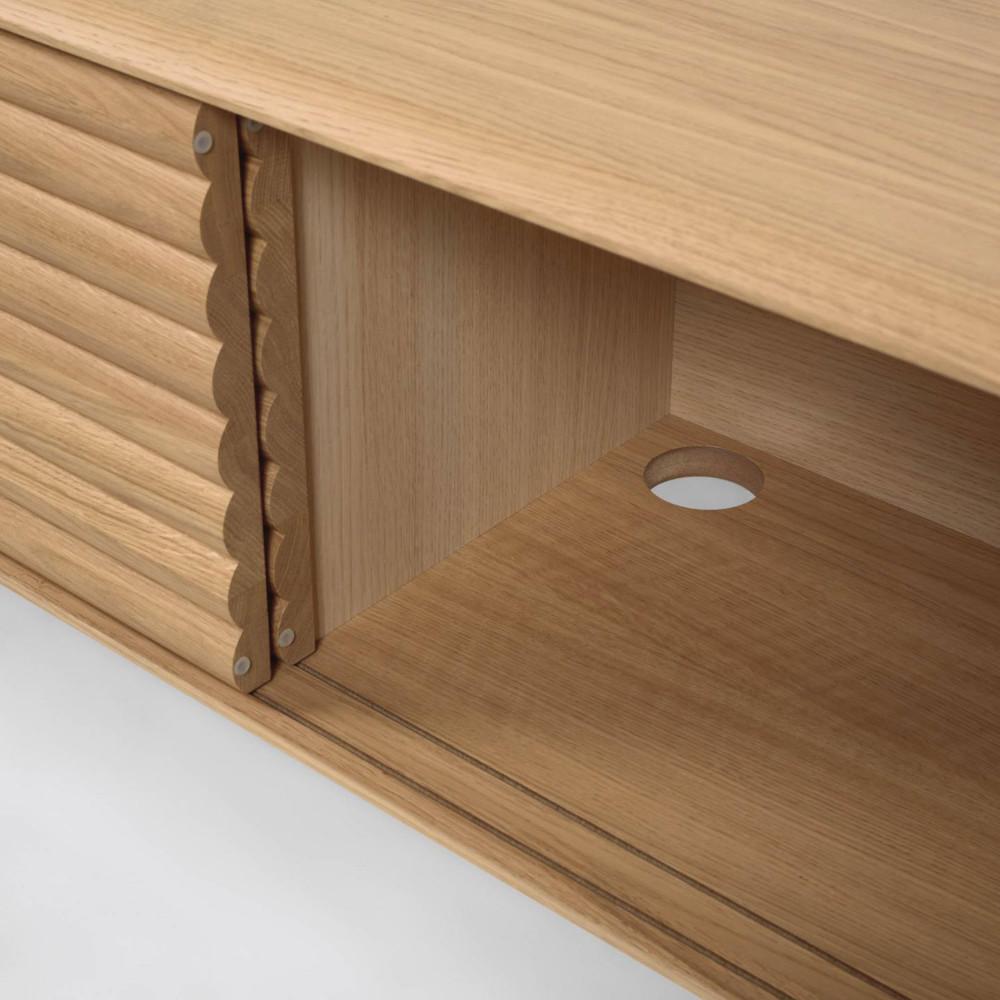 meuble tv 2 portes coulissantes en bois kave home lenon
