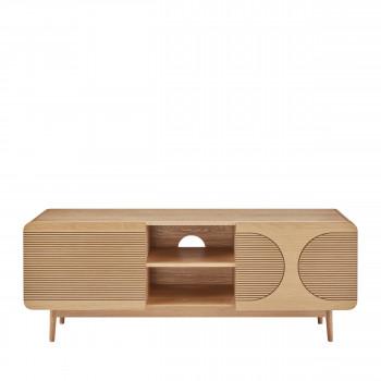 lumanda meuble tv design 2 portes en bois