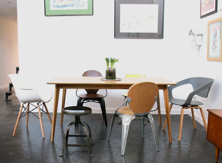 mixer les chaises autour de sa table a